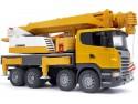 Автокран Bruder Scania с модулем со световыми и звуковыми эффектами желтый 1 шт 62 см 03570