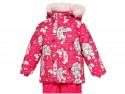 Куртка Huppa Cathy розовая с котятами полиэстер с капюшоном 74 см 1676BH14-463-074