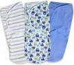 Конверты для пеленания на липучке размер L 3 шт. Summer Infant Swaddleme (машинки)