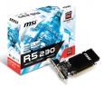 Видеокарта 1024Mb MSI R5 230 PCI-E GDDR3 128bit DVI HDMI HDCP R5 230 1GD3H Retail