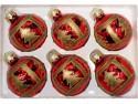 Набор шаров Новогодняя сказка 971958 красный 6 см 6 шт стелко