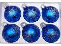Набор шаров Новогодняя сказка 971971 синий 6 см 6 шт стелко