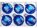 Набор шаров Новогодняя сказка 971970 синий 6 см 6 шт стелко