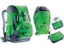 Школьный рюкзак ортопедический Deuter OneTwo + сумка для сменной обуви, пенал и кошелек 20 л зеленый 3830015-2015/SET2