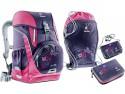 Школьный рюкзак ортопедический Deuter OneTwo + сумка для сменной обуви, пенал и кошелек 20 л фиолетовый 3830015-3029/SET2