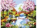 Набор для росписи по холсту Креатто Весенний ручеек от 7 лет 26163