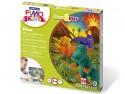 """Детский набор """"Дино"""" из полимерная глина и игра FIMO kids form&play 8034 07 LZ"""