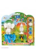 Набор для росписи фигурок Играем вместе Multiart Слон и Попугай от 3 лет BWC 1109В