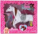Игровой набор Карапуз Волшебная лошадка для кукол Мария с аксессуарами для волос 8011-RU в ассортименте