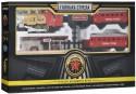 Железная дорога Голубая стрела, 580см, локомотив, тендер, вагон, свет, дым. Элементы питания в комплект не входят. Голубая стрела 2090