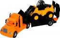 Игровой набор Технопарк Майк Автомобиль-трейлер + трактор-погрузчик 55743