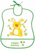 Нагрудник Canpol пластиковый мягкий 2/919 зеленый