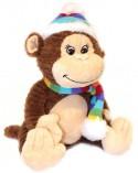Мягкая игрушка обезьянка Gulliver Радуга текстиль коричневый 20 см 52-V72139C