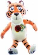 Мягкая игрушка тигр Мульти-Пульти V91268/25 плюш белый оранжевый 27 см