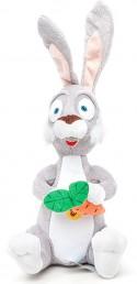 Мягкая игрушка заяц Мульти-Пульти V41264/22A плюш серый 22 см