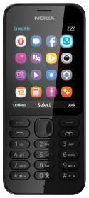 """Мобильный телефон NOKIA 222 черный 2.4"""""""