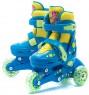 Набор: Ролики раздвижные ФИКСИКИ пластиковая рама 608ZB колеса PVC р.30-33 с набором защиты и шлемом FIXIKI  SET (30-33)