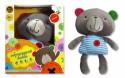 """Интерактивная игрушка 1Toy Плюшевая обучающая """"bobbie & friends"""" сенсорный Бобби, с озвучкой частей тела от 6 месяцев разноцветный Т57147"""