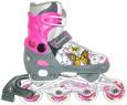 Коньки роликовые Коробейники алюминиевая рама р. 33-36 розовые  PW-126В-122