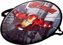 Ледянка 1Toy Marvel Железный Человек до 100 кг красный пластик 4603726369015 круглая