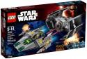 Конструктор Lego Star Wars Усовершенствованный истребитель СИД Дарта Вейдера против Звёздного Истребителя A-Wing 702 элемента 75150