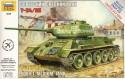 Танк Звезда Т-34/85 1:72 зеленый 5001