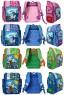 Рюкзак школьный, разм.39x27x14 см, жесткая рельефн. спинка, светоотраж.полоска,ассорти 4 цвета