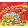 Пластилин МУЛЬТИКИ со стеком, 10 цв., 200 г