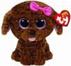 Мягкая игрушка щенок TY Щенок коричневый Maddie искусственный мех текстиль коричневый 15 см 0008421361571