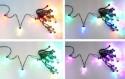Гирлянда электрическая Новогодняя сказка Сосульки, уличн., 7 цв., черн.провод 20 LED