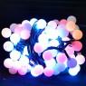 Гирлянда электрическая матовая, 120 ламп LED, рамер ламп 20 мм, разноцветная, с контрол.,для помещ.