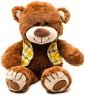 Мягкая игрушка медведь Fluffy Family Мишка Тепа в жилетке искусственный мех коричневый 27 см
