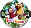 Ледянка 1Toy Маша и Медведь рисунок пластик