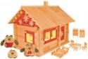 Конструктор Пелси Избушка три медведя с куклами, мебелью, росписью и электропроводкой 151 элемент
