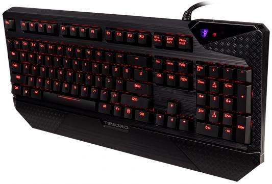 Фото Клавиатура проводная Tesoro Durandal V2 USB + PS/2 черный. Купить в РФ