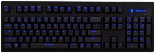 цена Клавиатура проводная Tesoro Excalibur V2 USB черный