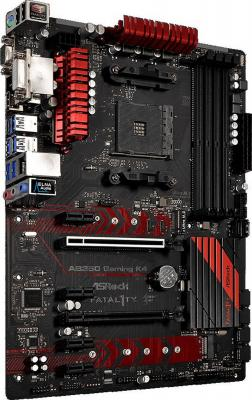 Фото Мат. плата для ПК ASRock AB350 GAMING K4 Socket AM4 AMD B350 4xDDR4 2xPCI-E 16x 4xPCI-E 1x 6xSATAIII ATX Retail. Купить в РФ