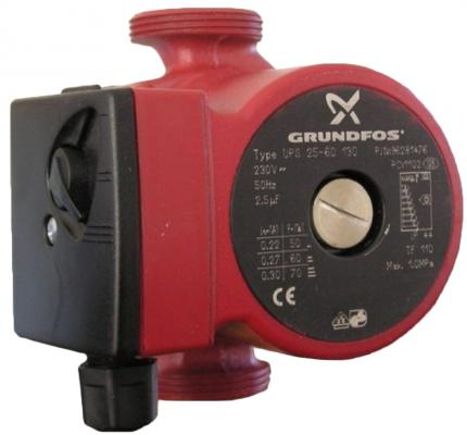 Насос поверхностный Grundfos UPS 25-60 130 3.8 куб. м/час 90 Вт