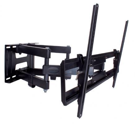 Кронштейн Kromax PIXIS-XL черный 40-90 настенный от стены 75-500мм наклон +3°/-10° VESA 600х400мм до 50кг kromax pixis s