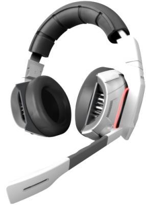 Игровая гарнитура проводная GAMDIAS HEPHAESTUS 7.2 белый черный GHS2000