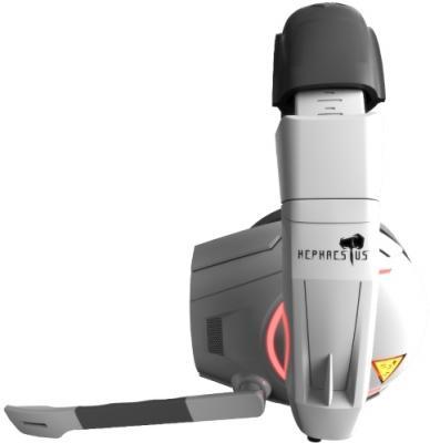 Фото Игровая гарнитура проводная GAMDIAS HEPHAESTUS 7.1 белый черный GHS2000. Купить в РФ