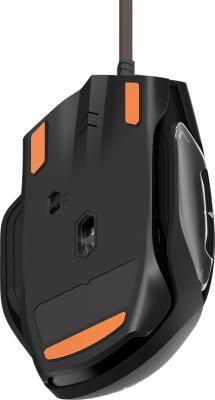 Фото Мышь проводная ThunderX3 TM20 Orange чёрный оранжевый USB. Купить в РФ