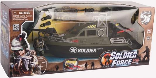 Игровой набор CHAP MEI Ракетный катер с лодкой (1 фигура, стреляет) 521004 игровой набор chap mei мобильный ракетный комплекс 2 фигуры свет стреляет 521006