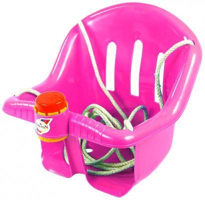 Т1790 Качели Бонифаций с барьером безопасности, с клаксоном розовые ОР757 качели r toys ор757