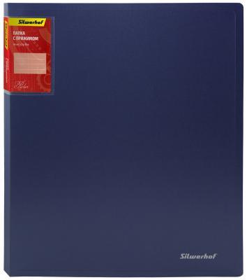 Папка с прижимом Silwerhof Perlen А4 700 мкм корешок 20мм внутренний карман карман для марки 281903-74 от 123.ru