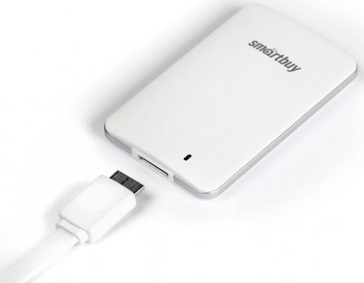 """Фото Внешний жесткий диск 2.5"""" USB3.0 SSD 256Gb SmartBuy S3 SB256GB-S3DW-18SU30 белый. Купить в РФ"""