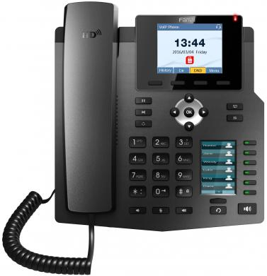 Телефон IP Fanvil X4 4 линии 2x10/100Mbps цветной LCD PoE