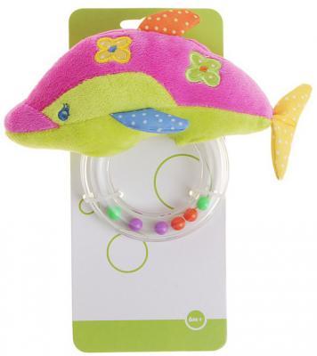 Развивающая игрушка Жирафики Дельфин-погремушка 93584 жирафики развивающая игрушка цветной мячик в ассорименте жирафики