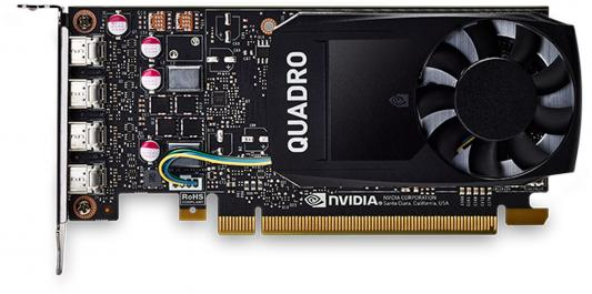Видеокарта 4096Mb PNY Quadro P1000 PCI-E 128bit GDDR5 4xminiDP VCQP1000DVI-PB Retail