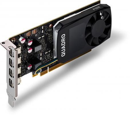 Фото Видеокарта 4096Mb PNY Quadro P1000 PCI-E 128bit GDDR5 4xminiDP VCQP1000DVI-PB Retail. Купить в РФ